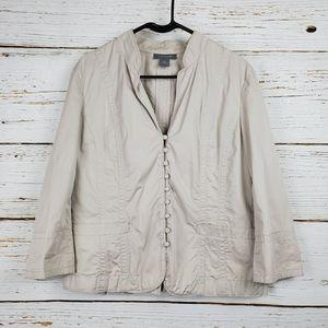 Ann Taylor Light Khaki Button Front Jacket